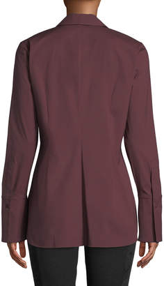 Lafayette 148 New York Jake Long Classic Blouse