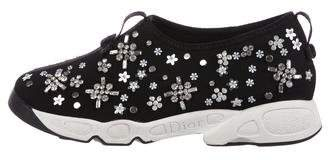 Christian Dior Floral Fusion Crystal-Embellished Sneakers