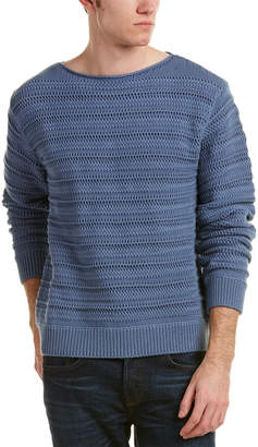 Vince Wide Neck Textured Sweater