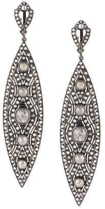 Loree Rodkin diamond tear drop earrings