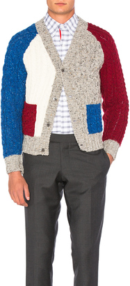 Thom Browne Cable Fun Mix Cardigan $650 thestylecure.com