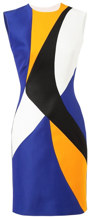 Roksanda Ilincic Colour-blocked Panelled Dress
