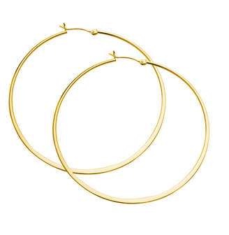 Jennifer Zeuner Jewelry Olivia Large Hoop Earrings