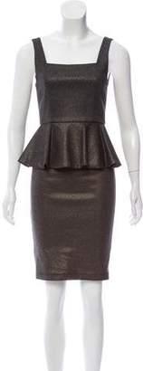Alice + Olivia Metallic Peplum Dress