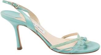 Jimmy Choo Blue Leather Heels
