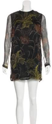 Dries Van Noten Printed Sheer Tunic