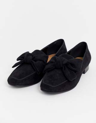 Asos Design DESIGN My Girl Bow Loafers in black