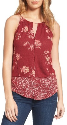 Women's Lucky Brand Paisley Border Top $49.50 thestylecure.com