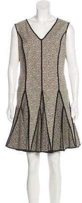 Halston Patterned Flared Dress w/ Tags