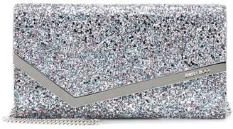 Jimmy Choo Emmie glitter clutch