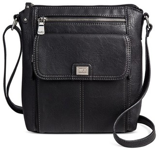 Bolo Women's Faux Leather Crossbody Handbags with Front/Back/Interior Compartments - Black $29.99 thestylecure.com