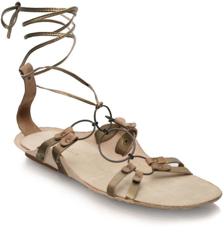 All Saints Flat Ring Gladiator Sandal