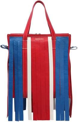 Balenciaga Small Bazar Leather Tote Bag W/ Fringe