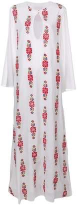 Carolina K. printed longsleeved maxi dress