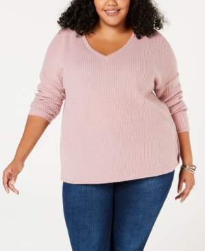 Soprano Trendy Plus Size Waffled Top