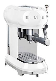 Smeg Ecf01Whau Espresso Pump Coffee Machine White