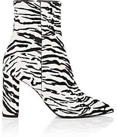 Saint Laurent Women's Betty Calf Hair Ankle Boots - Wht.&blk.