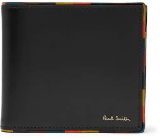 Paul Smith Stripe-Trimmed Leather Billfold Wallet - Men - Black
