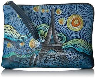 Anuschka Anna by Hand Painted Leather Women's Wristlet Clutch