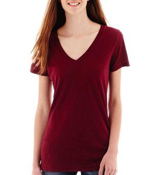 ARIZONA Arizona Short-Sleeve V-Neck T-Shirt - Juniors $14 thestylecure.com