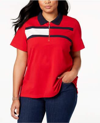 Tommy Hilfiger Plus Size Flag Logo Polo Shirt