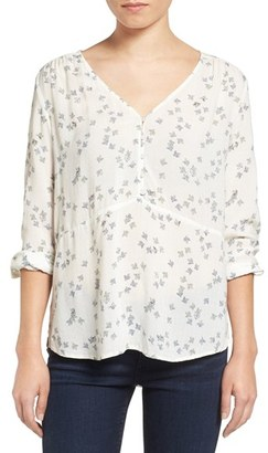 Women's Hinge Shirred Blouse $69 thestylecure.com