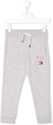 Tommy Hilfiger Junior logo embroidered track trousers