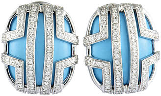 Di Modolo Heritage  18K 0.25 Ct. Tw. Diamond & Turquoise Earrings