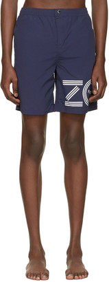 Kenzo Blue Logo Swim Shorts $165 thestylecure.com