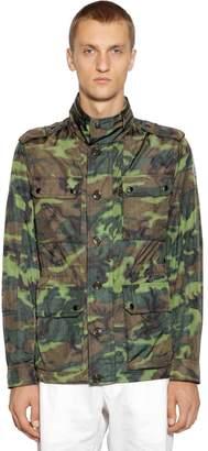 Moncler Cristian Camo Print Nylon Field Jacket