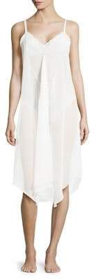 Sam Edelman Two-Piece Chiffon Nightgown and Lace Bodysuit Set
