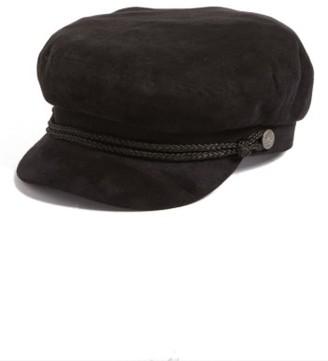 Women's Brixton Fiddler Faux Suede Cap - Black $48 thestylecure.com