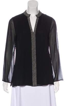 Tory Burch Silk Long-Sleeve Tunic