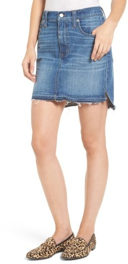 Women's Madewell Step Hem Denim Skirt
