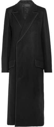 Haider Ackermann Double-Breasted Embroidered Wool Coat