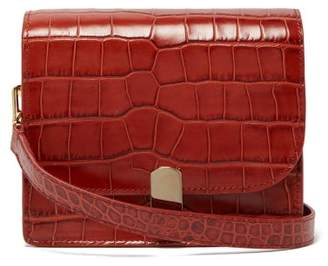 Hillier Bartley Mini Crocodile Effect Leather Shoulder Bag - Womens - Orange