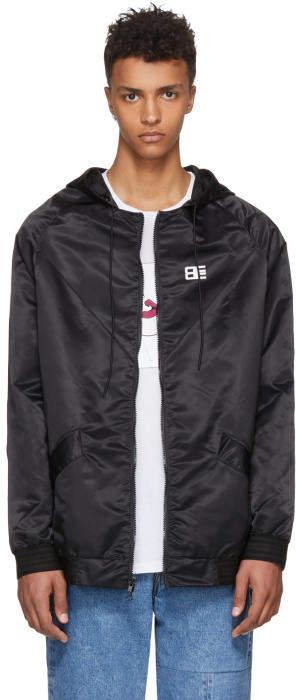 Baja East Black Nylon Thriving Logo Track Jacket