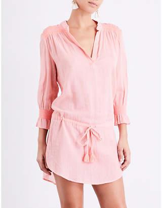Heidi Klein Capri smocked cotton tunic dress $240 thestylecure.com