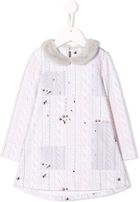 Lapin House knitted cardigan dress