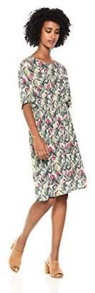 Daisy Drive Women's Tulip Floral Print Half-Sleeve Dress