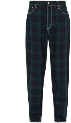 Eytys Wide-leg tartan jeans
