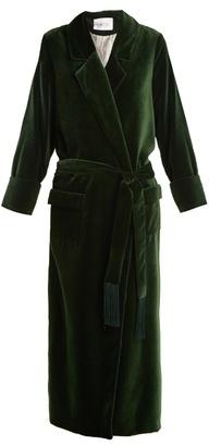 RACIL High Windsor velvet robe
