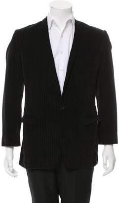 Dolce & Gabbana Velvet Pinstripe Blazer