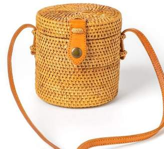 francesca's Natural Straw Round Crossbody - Natural