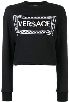 Versace Vintage 90s logo print sweatshirt