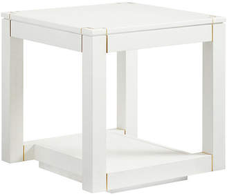 One Kings Lane Floating Parsons Side Table - Alabaster