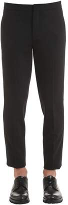 Neil Barrett Gabardine Stretch Wool Pants W/ Stripes