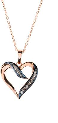 Latelita London - Diamond Large Open Heart Necklace