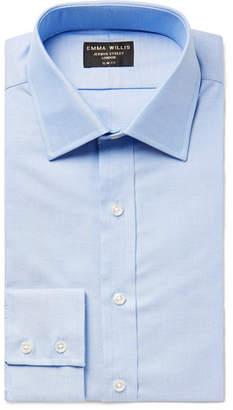 Light-Blue Slim-Fit Cotton Oxford Shirt