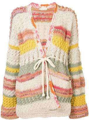 Etro patchwork knit cardigan